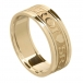 Women's Gaelic Wedding Band with Trim - All Yellow Gold
