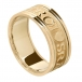 Men's Gaelic Wedding Band with Trim - All Yellow Gold