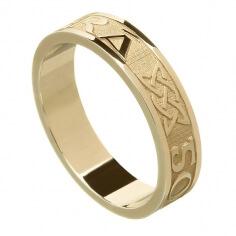 Women's Irish Forever Love Ring - Yellow Gold
