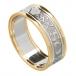 Damen für immer lieben Ring mit Trim - weiß mit gelben Trim