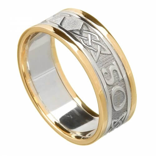Women's Forever Love Ring with Trim - White with Yellow Trim