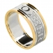 Men's Forever Love Ring with Trim - White with Yellow Trim