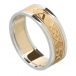 Women's Forever Love Ring with Trim - Yellow with White Trim