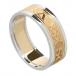 Damen für immer lieben Ring mit Trim - Damen für immer lieben Ring mit trim - gelb mit weißer Ordnung