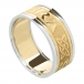 Herren für immer lieben Ring mit Trim - gelb mit weißer Trim