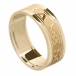 Women's Forever Love Ring with Trim - All Yellow Gold