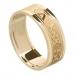 Bague pour femme avec bordure pour toujours - Tout en or jaune
