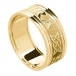 Men's Forever Love Ring with Trim - All Yellow Gold