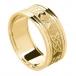 Bague pour homme avec bordure pour toujours - Tout en or jaune