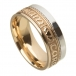 Unisex Soulmate Wedding Ring - Yellow & White Gold