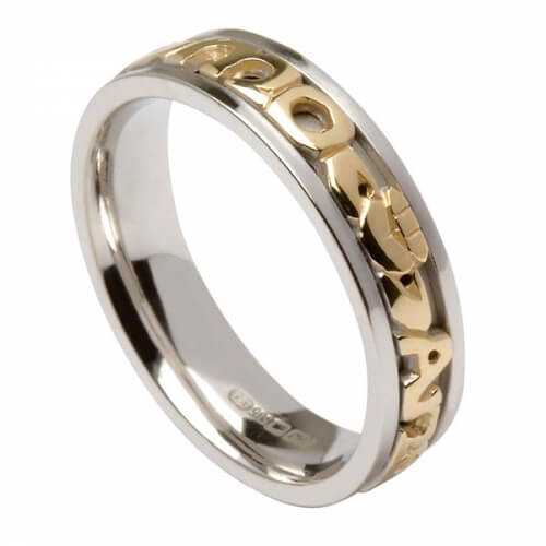 Mo Anam Cara Ring - White with Yellow Inside