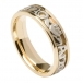 Mo Anam Cara Ring - gelb mit weißer Innenseite