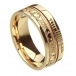 Ogham Claddagh Faith Ring - All Yellow Gold