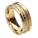 Ogham Claddagh Glauben Ring - alles gelbe Gold