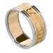 Herren Claddagh Ring Seelenfreund mit Trim - gelb mit weißem trim