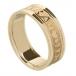 Damen Claddagh Ring Seelenfreund mit Trim - alles gelbe Gold