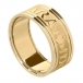 Men's Claddagh Soulmate Ring with Trim - All Yellow Gold
