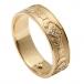 Bague de mariage en diamant Claddagh pour femme - Or jaune