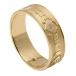 Bague de mariage en diamant Claddagh pour homme - Or jaune