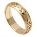 Damen Geprägter Claddagh Ehering - Gelbes Gold