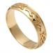Bague Claddagh gaufrée mariage pour homme - Or jaune