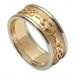 Damen Geprägter Claddagh Ehering mit Weißgold Trim