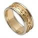 Herren Geprägter Claddagh Ehering mit Weißgold Trim