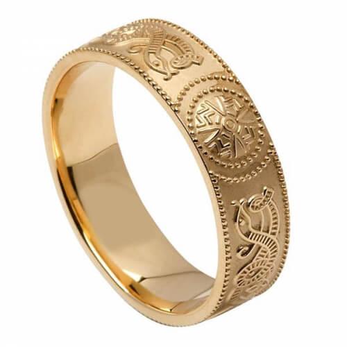 Irischer Kriegerring der Männer - Gold