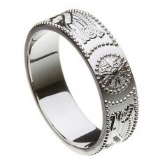 Mens Silver Warrior Ring