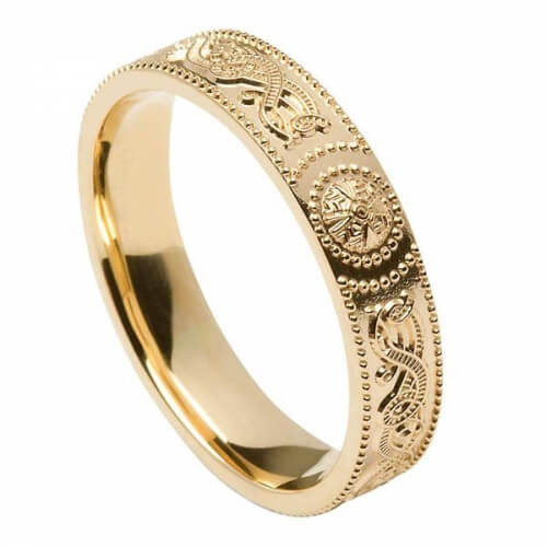 Womens Irish Warrior Ring - Gold