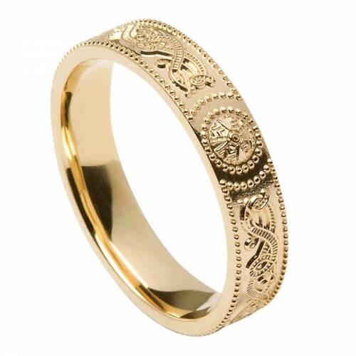 Womens Irish Warrior Ring - Gold
