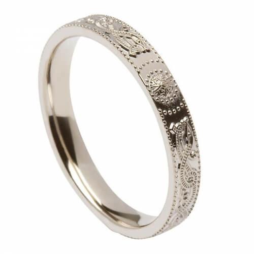 Narrow Celtic Warrior Ring - Silver
