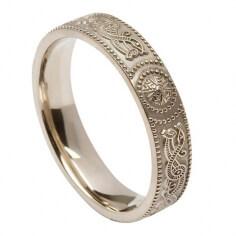 Damen-irischer Krieger Ring - Silber