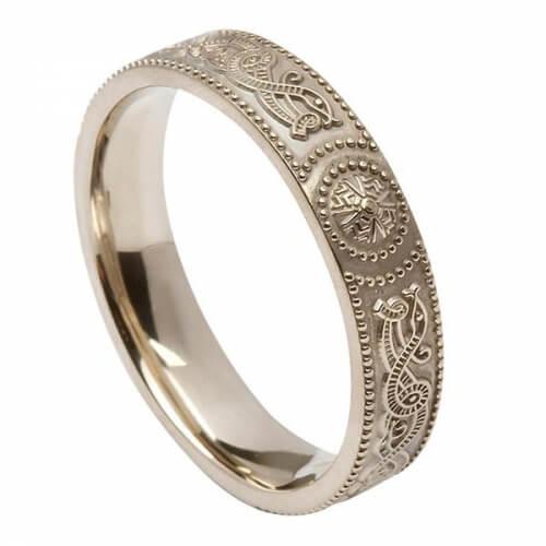 Womens Irish Warrior Ring - Silver