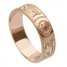 Herren Roségold Krieger Ring