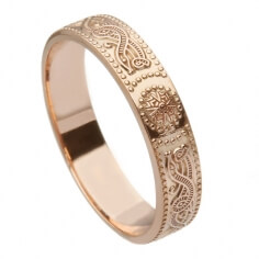 Womens Rose Gold Warrior Ring