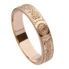 Damen Roségold Krieger Ring