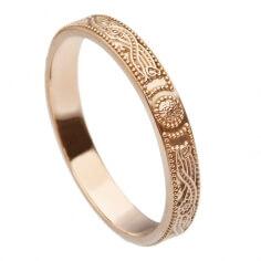 Schmaler Roségold-Krieger Ring