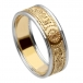 Women's Warrior Ring with Trim - Yellow Band with White Trim