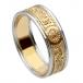Damen Krieger Ring mit Rand - Gelbes Band mit weißem Rand