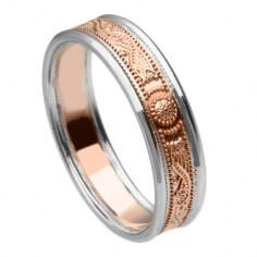 Schmaler Roségold Ring mit Rand