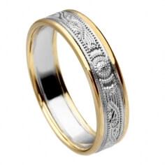 Schmaler Silberner Krieger Ring mit Rand