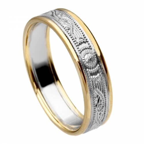 Narrow Silver Warrior Ring with Trim