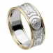 Men's Warrior Ring with Trim - White Band with Yellow Trim