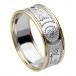 Herren Krieger Ring mit Rand - Weißes Band mit gelbem Rand