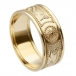 Men's Warrior Ring with Trim - All Yellow Gold