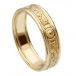 Narrow Warrior Ring with Trim - All Yellow Gold