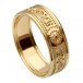 Women's Warrior Ring with Trim - All Yellow Gold