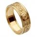 Damen Krieger Ring mit Rand - Alles Gelbgold