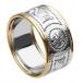Breiter Krieger Ring mit Besatz - Weiß mit gelbem Rand